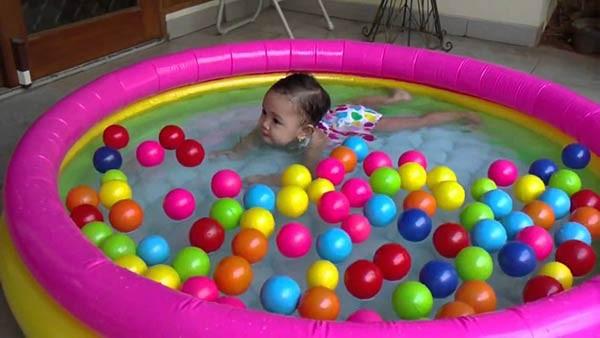 bể bơi phao cầu vồng mini intex 57412