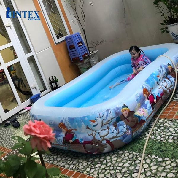 Bể bơi cho bé hình Công chúa Elsa Intex 58469