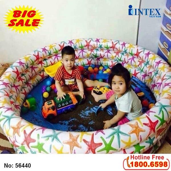 bể bơi phao hình sao biển intex 56440