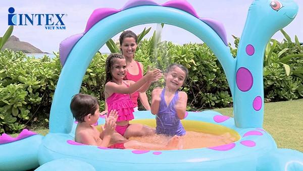 bể bơi phao khủng long cho bé INTEX 57437