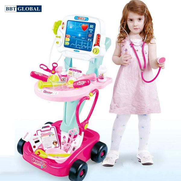 Bộ đồ chơi bác sỹ xe đẩy cao cấp 660-45