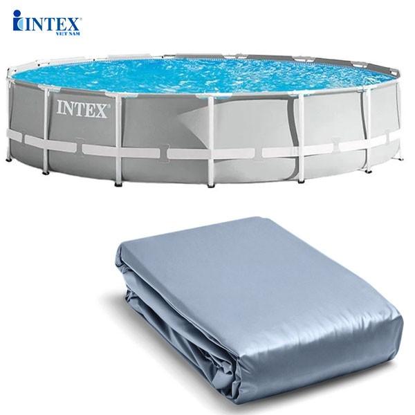 Vỏ bể bơi khung kim loại INTEX (4m57x107cm) 26724 - Mã INTEX 10089
