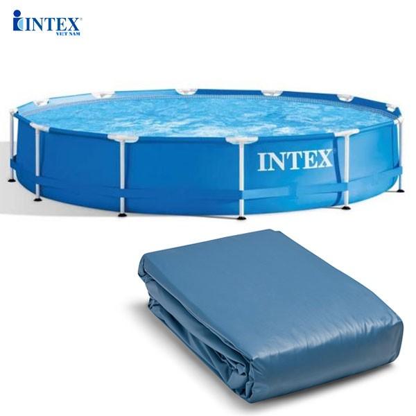 Vỏ bể tròn khung KL 305*76cm (dành cho bể 28200, 28202) mã INTEX 10095