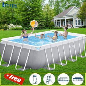 Bể bơi khung kim loại chịu lực chữ nhật 4m88 INTEX 26792