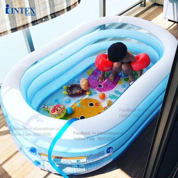 Bể bơi phao 3 tầng hình Oval 1m63 INTEX 57482