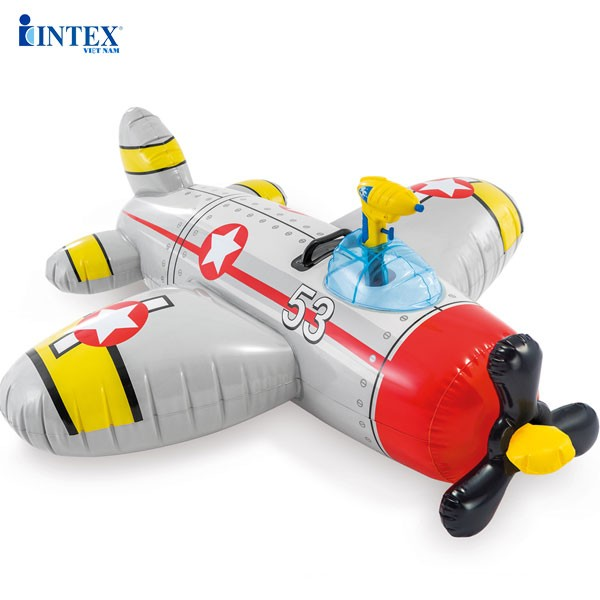 Phao bơi máy bay INTEX 57537 kèm súng phun nước