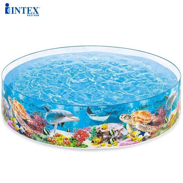Bể bơi lắp dựng hình đại dương 2m44 INTEX 58472