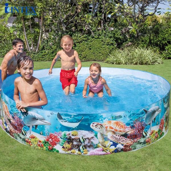 Bể bơi phao lắp dựng hình đại dương 2m44 intex 58472