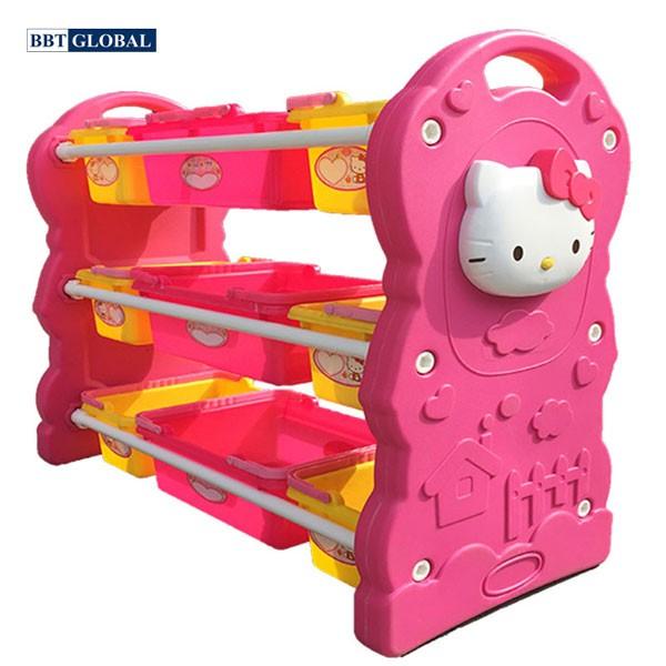 Kệ để đồ chơi nhập khẩu Hello Kitty cho bé F003A