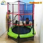 Bạt nhún lò xo trampoline có bảo vệ ĐK140cm KT211-140PR