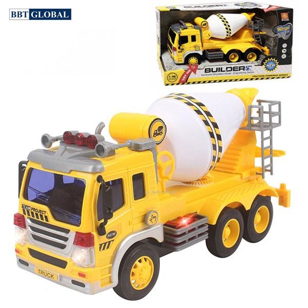 Mô hình đồ chơi xe trộn bê tông cỡ lớn có đèn và nhạc WY302S