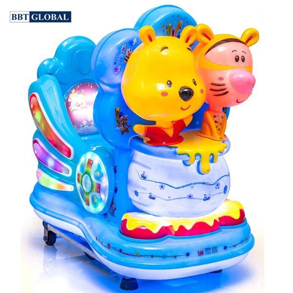 Nhún điện nhập khẩu Gấu Pooh và hổ NDNK-1093