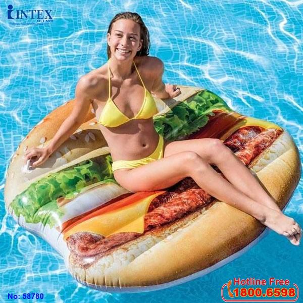 phao bơi bánh hamburger