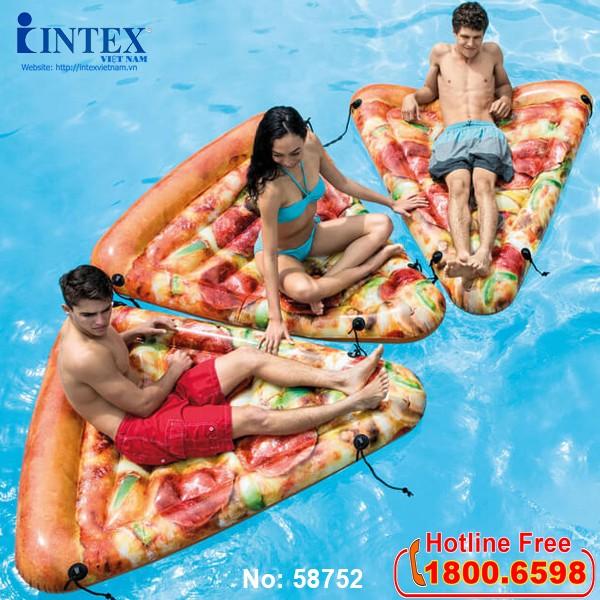 phao bơi bánh pizza khổng lồ