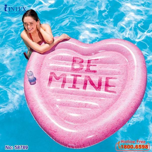 phao bơi trái tim intex 58789