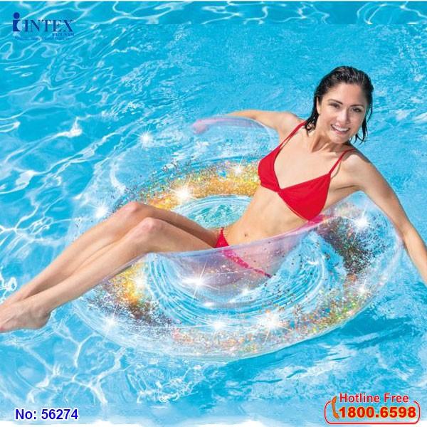 phao bơi tròn kim tuyến intex 56274
