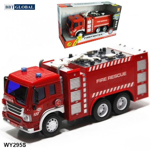 Mô hình đồ chơi xe cứu hỏa cỡ lớn có đèn và nhạc WY295S