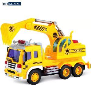 Mô hình đồ chơi xe cần cẩu cỡ lớn có đèn và nhạc WY303S