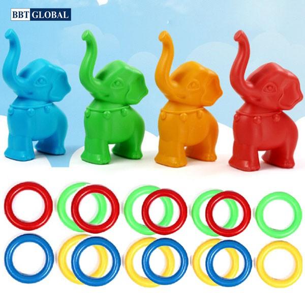 Đồ chơi vận động ném vòng 4 chú voi ZK6054