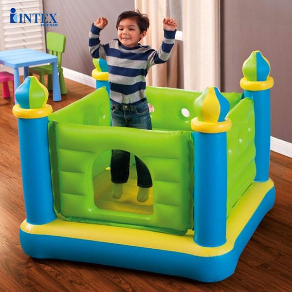 Nhà nhún lâu đài xanh cho bé INTEX 48257