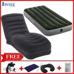 Combo ghế hơi INTEX 68595 và đệm đơn 76cm (đủ màu)