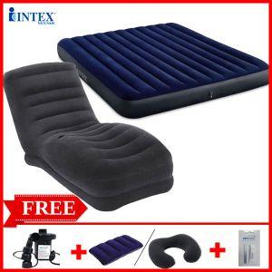 Combo ghế hơi INTEX 68595 và đệm đôi 1m83