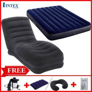 Combo ghế hơi INTEX 68595 và đệm đôi 1m37