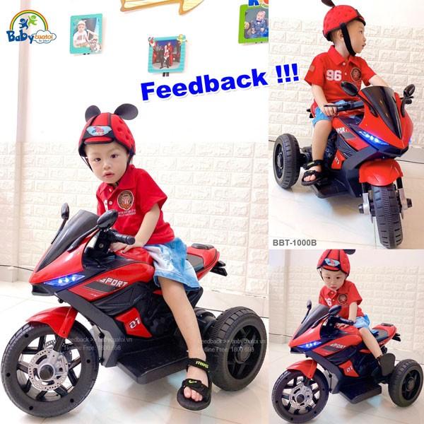 Xe máy điện trẻ em dáng thể thao BBT-1000B