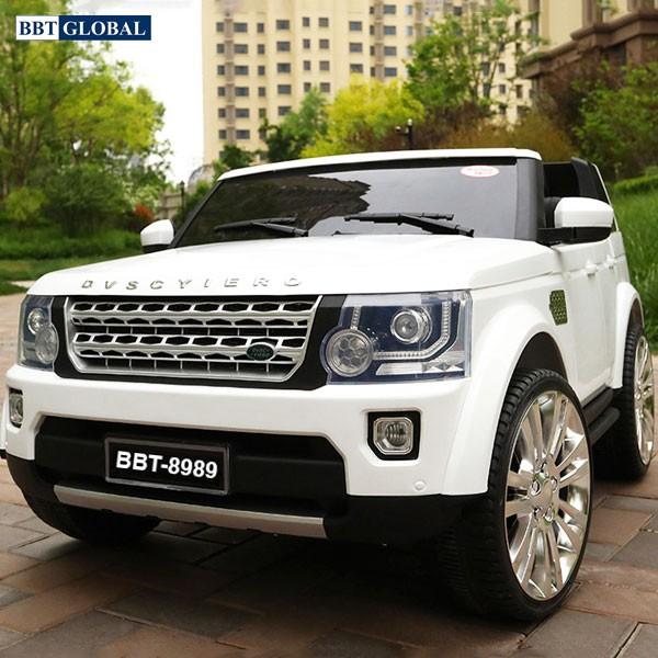 Xe ô tô điện trẻ em Land Rover BBT-8989 | Màu trắng