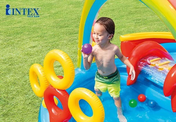 bể bơi phao cầu trượt cho bé INTEX 57453