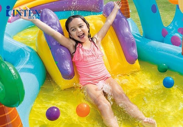 bể bơi phao có cầu trượt INTEX 57135