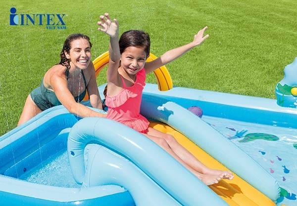 bể bơi phao có cầu trượt INTEX 57161