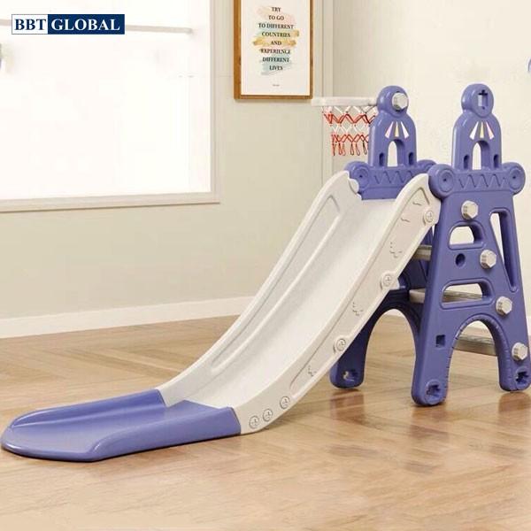 Cầu trượt cho bé hình lâu đài BSL302B | Màu xanh