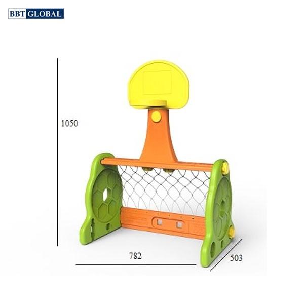 Bộ khung thành bóng và ném bóng rổ Hàn Quốc CHD131