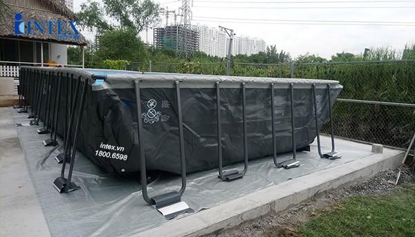 dự án lắp đặt bể bơi khung kim loại INTEX 26378 tại Phú Mỹ Hưng, Quận 7, Tp.HCM