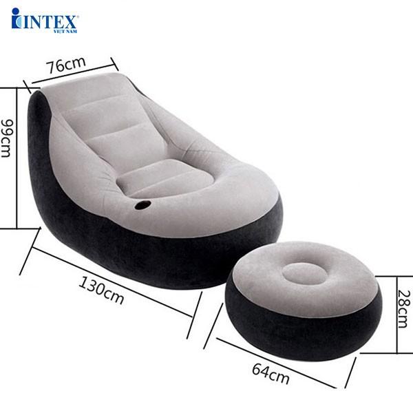 Combo ghế hơi INTEX 68564 và đệm đơn 99cm (đủ màu)
