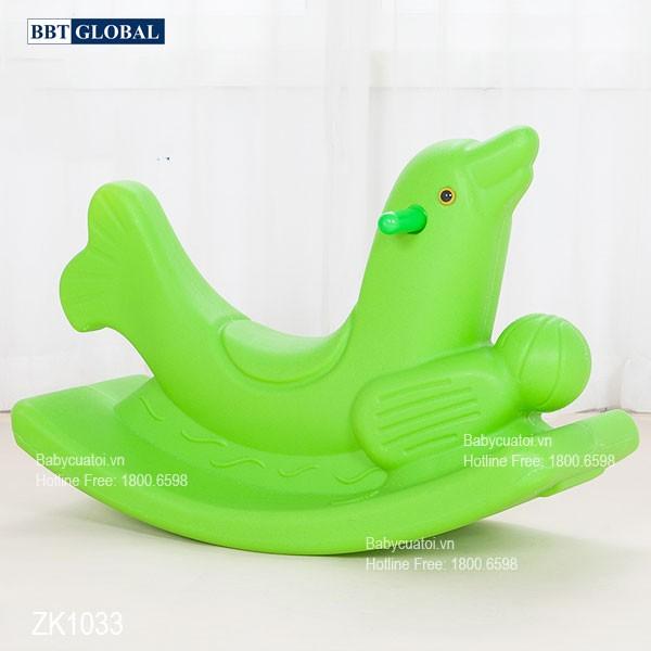Bập bênh cá heo đơn nhập khẩu ZK1033
