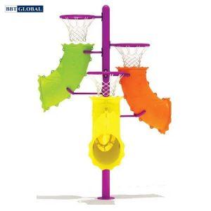 Thiết bị thể dục ngoài trời cột ném bóng rổ BBT Global 14074-7