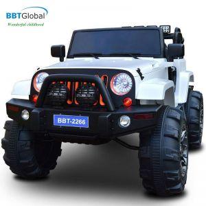 Ô tô điện trẻ em địa hình 4 động cơ màu trắng BBT-2266T