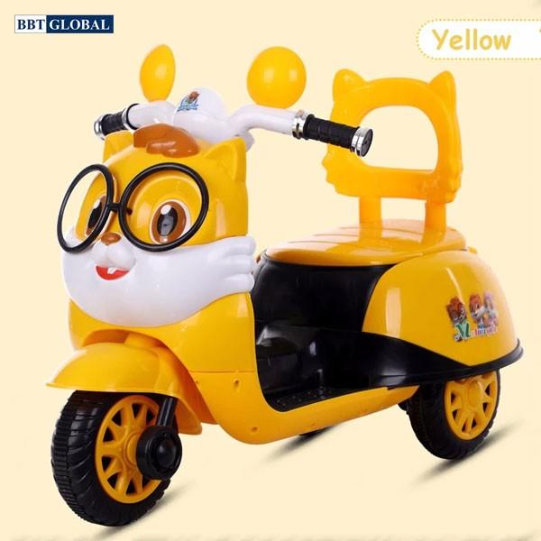 Xe máy điện trẻ em hình chú mèo BBT-669 | Màu vàng