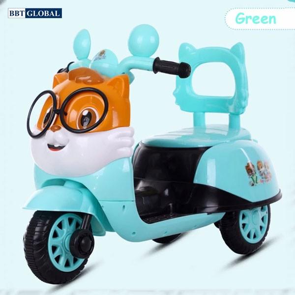 Xe máy điện trẻ em hình chú mèo BBT-669 | Xanh lam