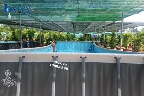 Dự án lắp bể bơi khung kim loại tại Bình Lợi, Bình Chánh, Tp.HCM