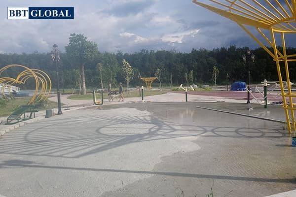 Dụng cụ thể thao tại khu vui chơi công cộng