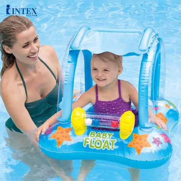 Phao bơi cho bé có mái che INTEX 56581