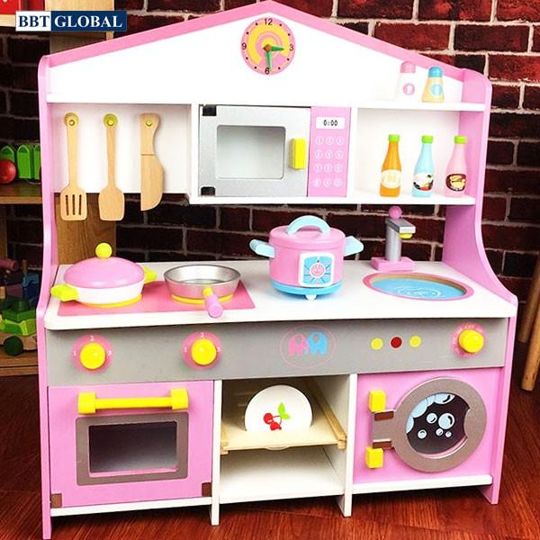Đồ chơi nhà bếp bằng gỗ BBT Global cao cấp cỡ lớn cho bé MSN17074
