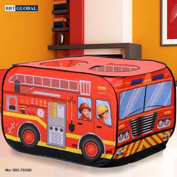 Nhà bóng mô hình xe cứu hỏa