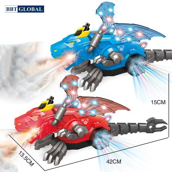 Đồ chơi khủng long bay phun khói có đèn và nhạc RJ22903