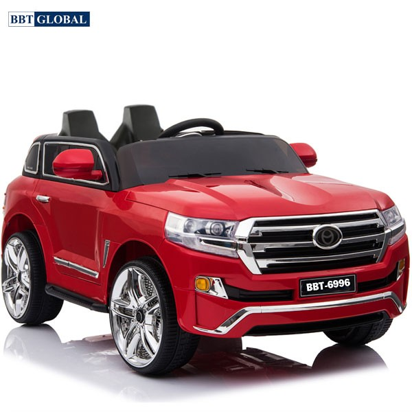 Xe ô tô điện trẻ em Land Cruiser   Màu đỏ nhựa thường