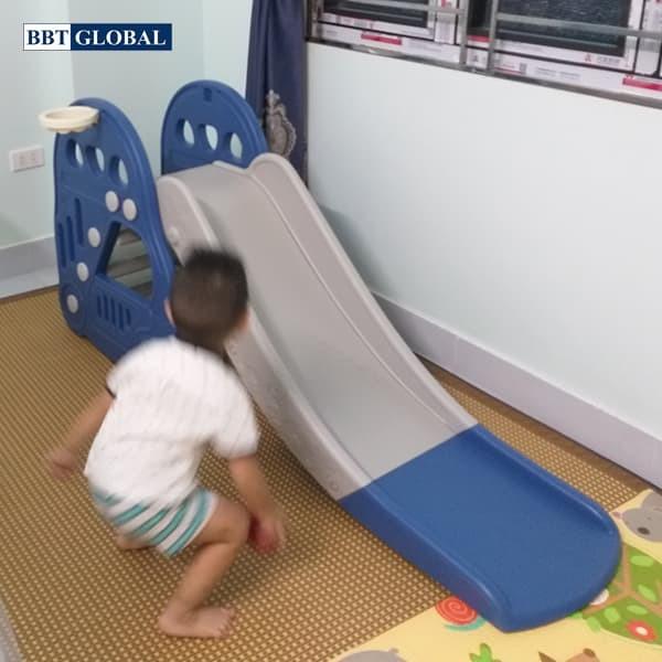 Cầu trượt cho bé ô tô máng dài 180cm WL03