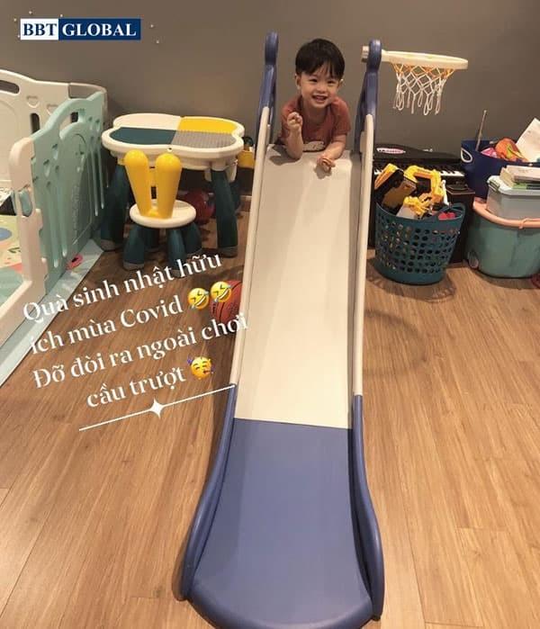 Cầu trượt đơn cho bé máng dài BSL308